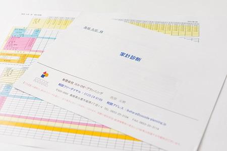 家計診断シミュレーション資料写真